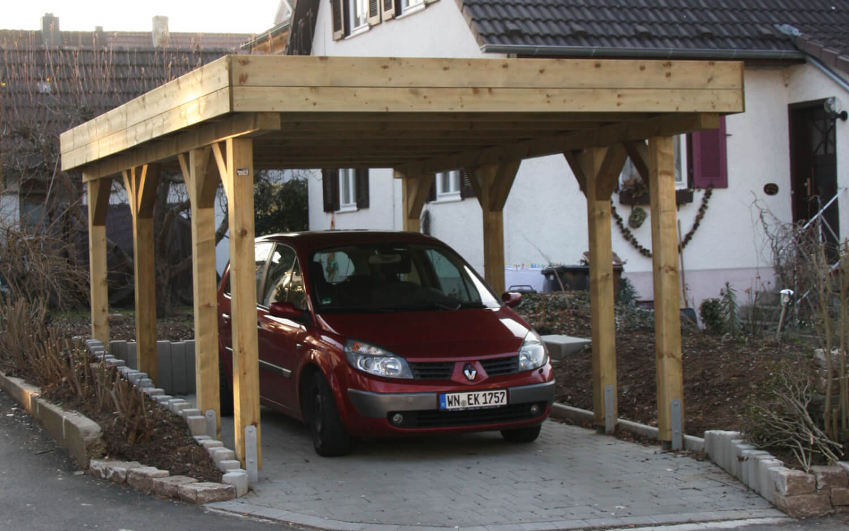 Carport_Holzblende