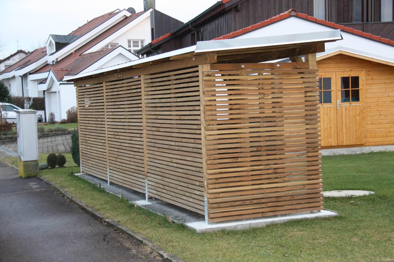brennholzunterst nde mit optischem anspruch heinzmann. Black Bedroom Furniture Sets. Home Design Ideas