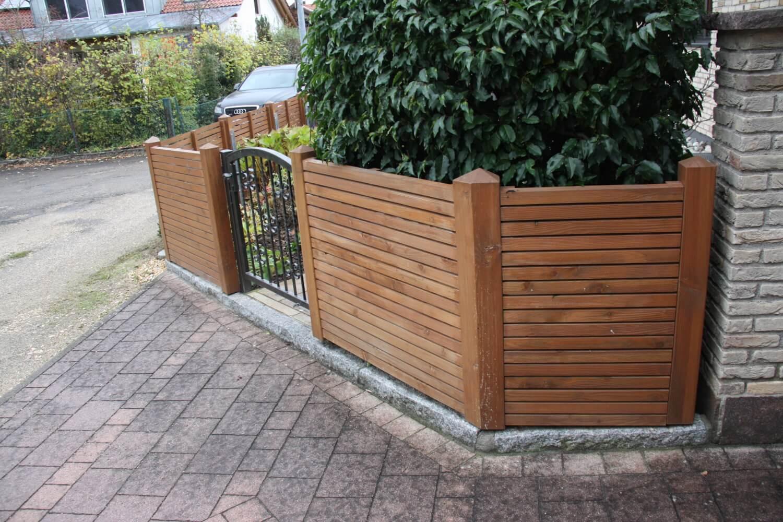 Sichtschutz mit modernen sichtblenden heinzmann - Vorgartenzaun modern ...
