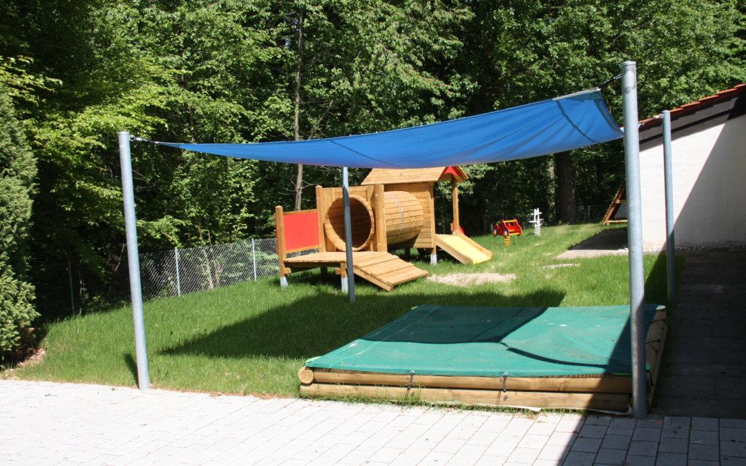 Neue Spielgeräte für den Kindergarten in Alt-Heumaden