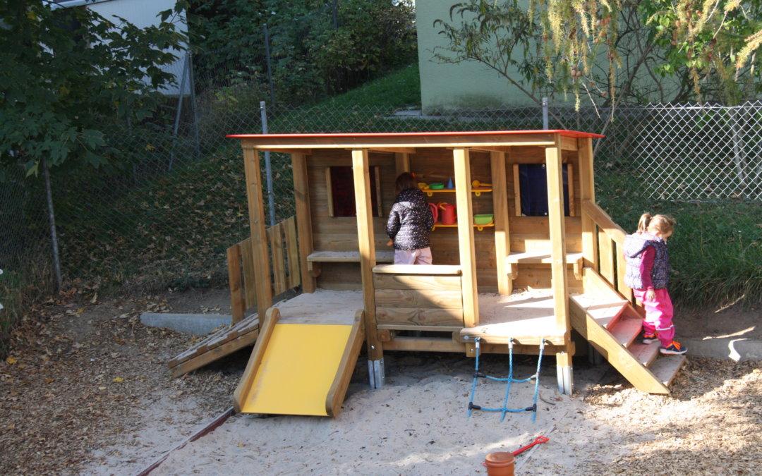 Neue Spielgeräte für den Kindergarten Christkönig in Stuttgart-Vaihingen
